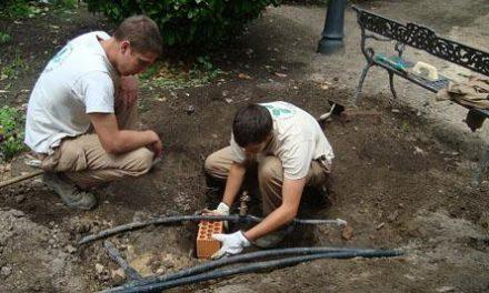 Los alumnos de jardinería de la escuela taller Vía Argéntea remodelan los jardines del Museo Pérez Comendador