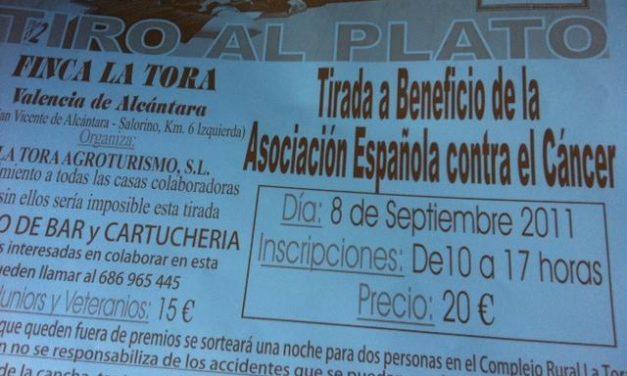 Valencia de Alcántara acoge este jueves una tirada al plato a favor de la Asociación Española contra el Cáncer