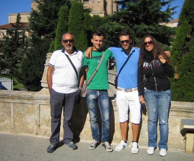 Tres alumnos italianos se forman en empresas agroalimentarias a través del IES Alagón y Adesval