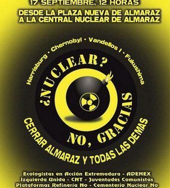 Adenex se suma este sábado a la manifestación antinuclear para pedir de nuevo el cierre de Almaraz