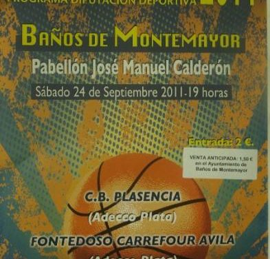 Baños de Montemayor acogerá este sábado un partido de baloncesto de la categoría Adecco Plata