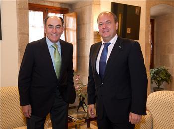 Monago recibe al presidente de Iberdrola en el marco de contactos con empresas que cotizan en el Ibex 35