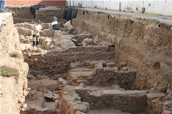 Aparecen restos de una casa señorial de época romana y de un edificio visigodo en un colegio de Mérida