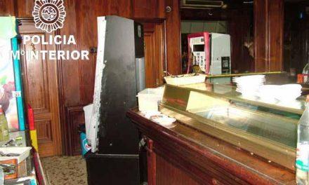 La policía detiene a un individuo por un robo con fuerza en una cafetería de la ciudad de Badajoz