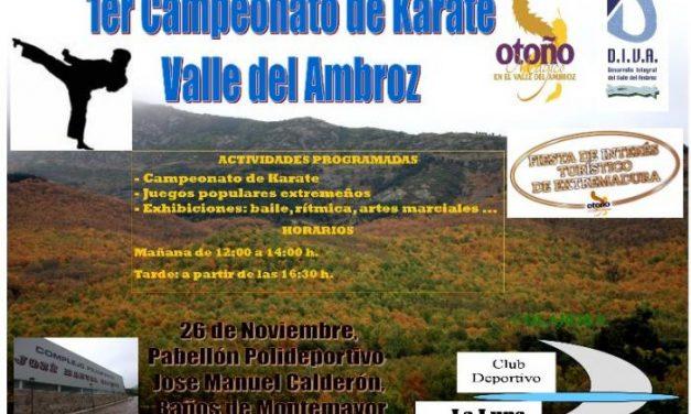 Baños de Montemayor acoge este sábado el I Campeonato de Kárate del Valle del Ambroz con 200 deportistas