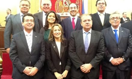 La alcaldesa de Cáceres, Elena Nevado, toma posesión como Senadora en la Cámara Alta
