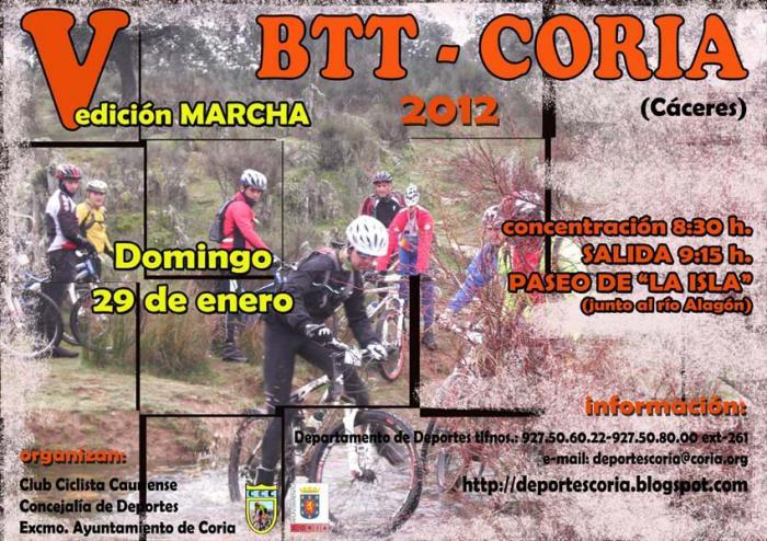 La Concejalía de Deportes de Coria organiza para el 29 de enero una ruta en bici  por la comarca