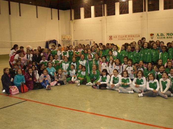 Moraleja acoge la primera concentración JUDEX del año con 250 participantes en la modalidad del Minivoley