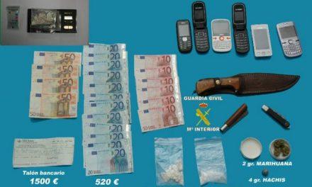 """La Guardia Civil detiene a cuatro personas por un delito de tráfico de drogas en la Operación """"Pericuto"""""""