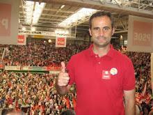 Óscar Alcón, alcalde de Valdeobispo, se compromete a trabajar por el Alagón como nuevo presidente de Adesval