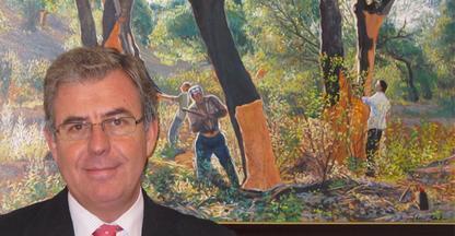 El director de Iprocor mantiene encuentros con empresas y representantes del corcho de Portugal