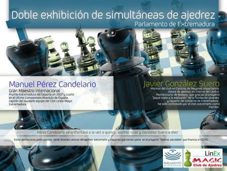 """El Parlamento acoge una doble exhibición de ajedrez dentro del proyecto """"Jaque Mate a la Exclusión"""""""