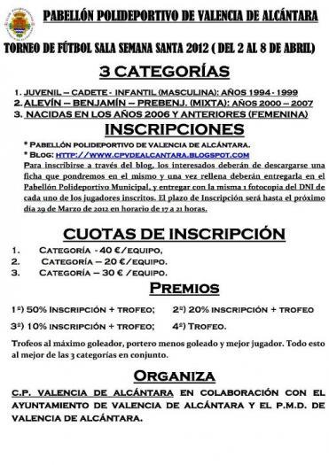 El C.P. Valencia de Alcántara organiza el torneo de fútbol-sala para la Semana Santa en tres categorías