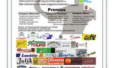 Este fin de semana se celebra un Torneo benéfico de pádel en Coria en tres categorías a beneficio de Cáritas