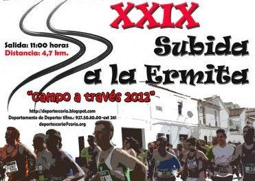 La Concejalía de Deportes del ayuntamiento de Coria organiza la XXIX subida a la ermita 'campo a través 2012'