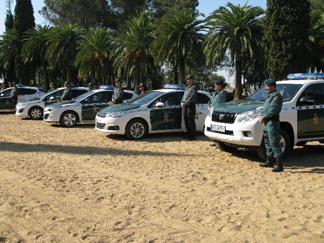 La Guardia Civil renueva parte de su parque automovilístico en Badajoz con 50 nuevos vehículos