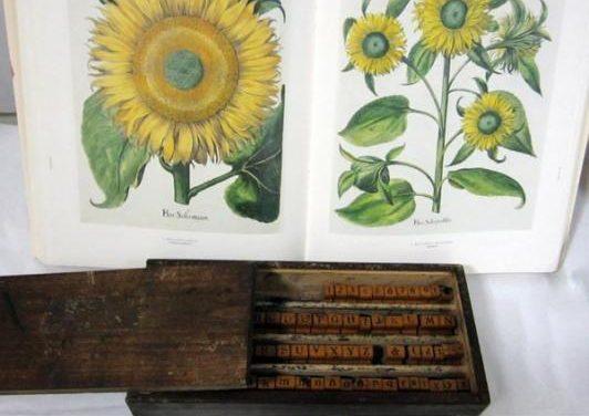 El Centro de Estudios Agrarios expone una antigua imprenta y un facsímil de un libro de botánica