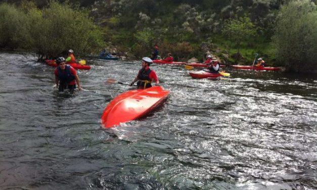 Zarza la Mayor aplaza hasta el 28 de abril la celebración del descenso del río Erjas por la falta de caudal del río