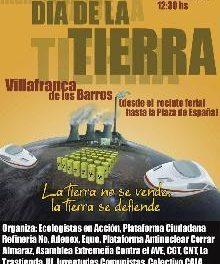 IU participa en los actos conmemorativos del Día de la Tierra, este domingo en Villafranca de los Barros
