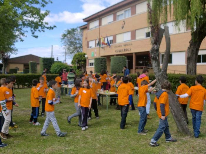Alumnos del colegio Cervantes de Moraleja comparten una convivencia con niños portugueses
