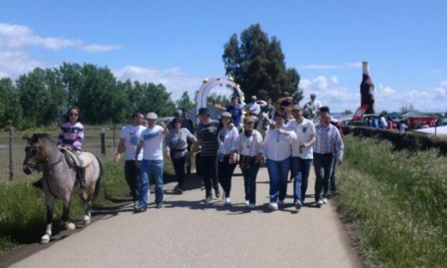 Cientos de devotos rindieron homenaje este domingo a la patrona de la villa de Moraleja