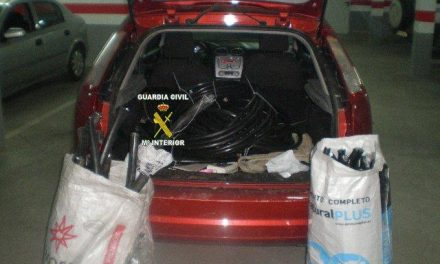 La Guardia Civil detiene a dos personas como supuestos autores de robo de cableado de cobre