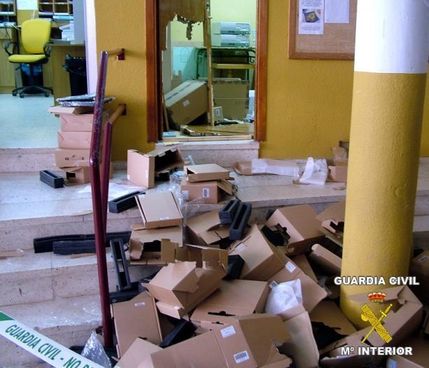 La Guardia Civil detiene a un grupo de jóvenes que se dedicaban al robo de centros docentes en Guareña