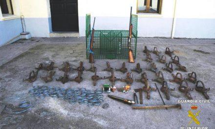 Una operación de la Guardia Civil contra el uso de cepos para especies amenazadas se salda con cuatro detenidos