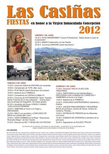 La aldea de Las Casiñas celebrará las fiestas en honor a la Virgen Inmaculada Concepción del 1 al 3 de junio