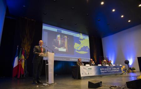 Monago defiende el Eje 16 como una infraestructura prioritaria y esencial para Extremadura y Europa