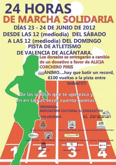Valencia de Alcántara acogerá una marcha solidaria a beneficio de la niña Alicia Corchero
