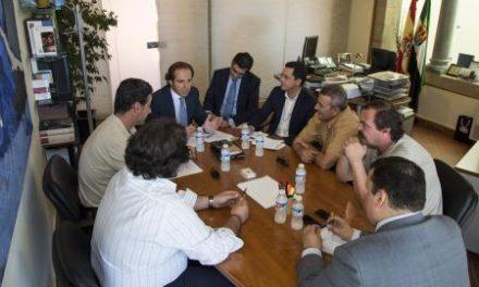 Juan Parejo recibe a los alcaldes de Gata, Acebo, Torrecilla de los Ángeles y Cadalso