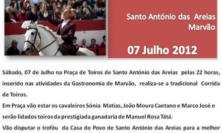 Moura Caetano participará en una corrida de rejones en la localidad rayana de Santo António das Areias
