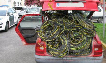 La Guardia Civil detiene a una banda de rumanos como supuestos autores del robo de cableado de cobre