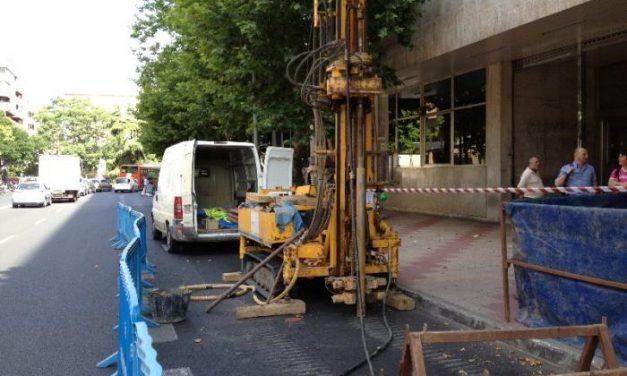 Comienzan las catas para el perfil geotécnico del aparcamiento de la avenida Primo de Rivera de Cáceres