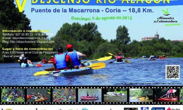 El Ayuntamiento de Coria anima a los aficionados a la piragüa a participar en el V Descenso del Río Alagón