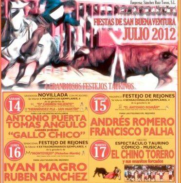Este miércoles se presentan los festejos taurinos de las fiestas de San Buenaventura en la pista Las Vegas