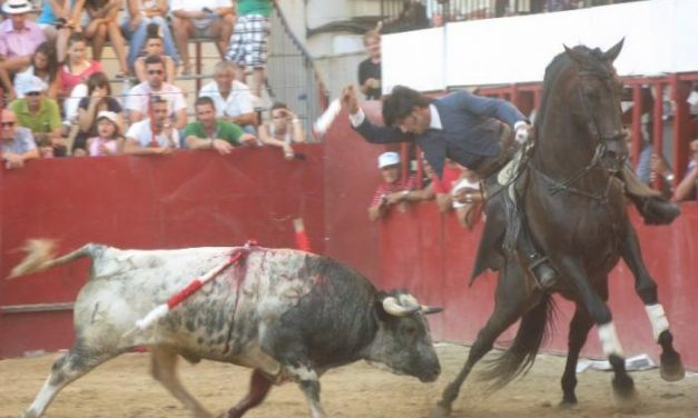 El rejoneador Rubén Sánchez cortó dos orejas en el segundo festejo de San Buenaventura en Moraleja