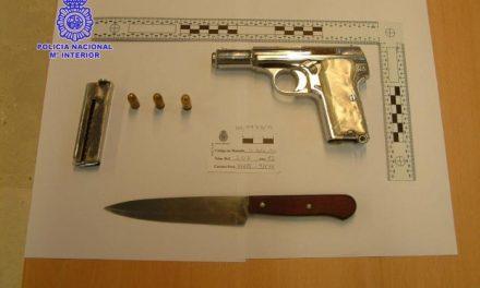 Una persona detenida en Villanueva de la Serena por tenencia ilícita de armas y delito contra la seguridad vial
