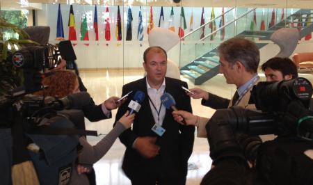 Monago lamenta la decisión de no incluir el Eje 16 en la red de corredores prioritarios de la red ferroviaria europea