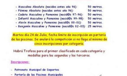"""El Ayuntamiento de Moraleja llevará a cabo el octavo Trofeo de Natación """"San Buenaventura"""""""