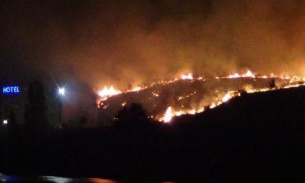 Un incendio de pastos en la zona del Hotel Montesol de Coria genera tensión durante la madrugada