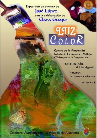 El pintor José López expone sus obras de la colección «luz y color» en Valencia de Alcántara