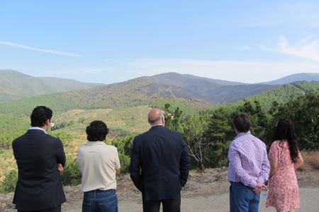El Infoex da por controlado el incendio que ha afectado a 621 hectáreas en Nuñomoral y Caminomorisco