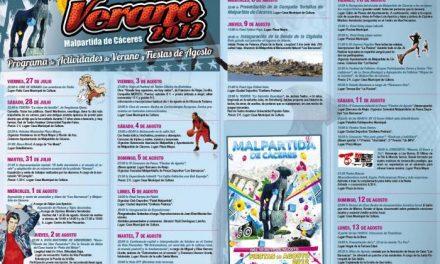Malpartida de Cáceres oferta más de 50 actividades para el verano y con motivo de las fiestas de agosto