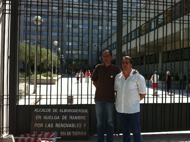 UPA UCE se solidariza con el alcalde de Alburquerque, Ángel Vadillo, en huelga de hambre durante casi 50 días