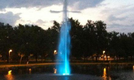 Moraleja pone en marcha la Fuente Géiser en el Parque fluvial Feliciano Vegas como atractivo turístico