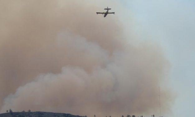 El Infoex da por controlado el incendio de Sierra de Gata que ha afectado a unas 600 hectáreas