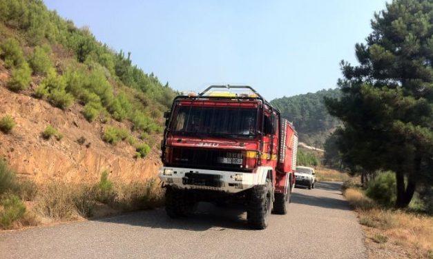 El estado de la pista forestal pudo originar el accidente del camión de la Unidad Militar de Emergencia en Gata
