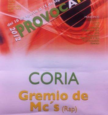 """La localidad de Coria acogerá un concierto del """"Gremio de Mc´s"""" con motivo del Festival Provocarte"""